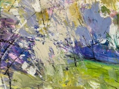 Natalie Bird, Evening Light, Blossom I, Original Abstract Landscape Painting
