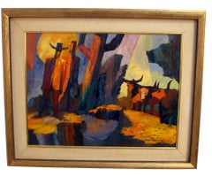 Abstract Western Landscape Painting by California Artist Anthony Rizzo