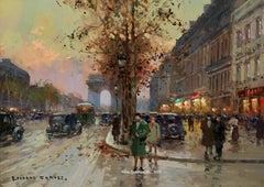 Les Champs-Elysees et l'Arc de Triomphe