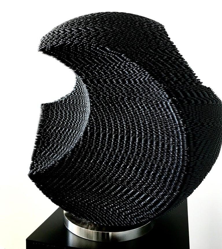 Kim Seungwoo Figurative Sculpture - Black Circle