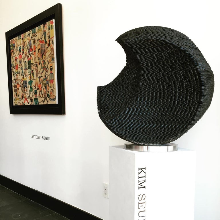 Black Circle - Abstract Geometric Sculpture by Kim Seungwoo