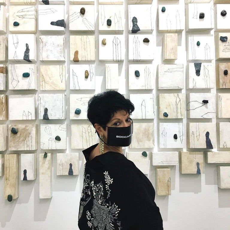 Kim Jeong Yeon - Contemporary Conceptual Korean painter and installation Artist, based in Seoul  South Korea.   Kim is recognized for her installations which fuse together natural energies of her homeland with an explosive expressionism and