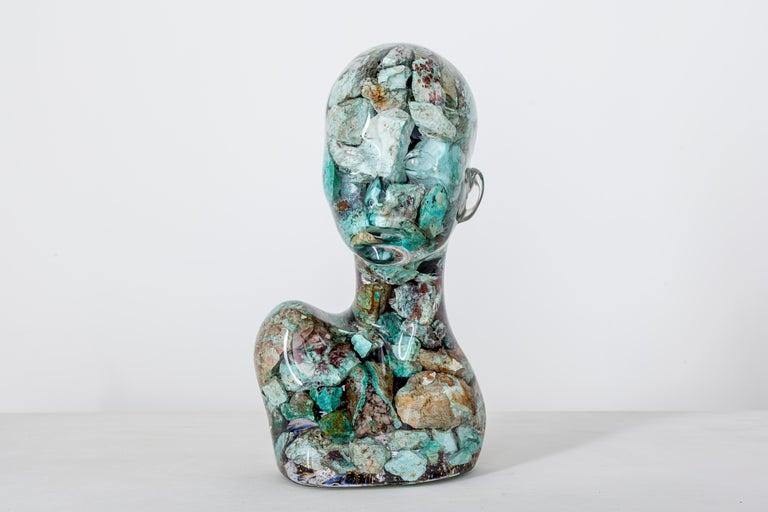 "Guido Oakley Nude Sculpture - Estanatlehi - ""The Turquoise Lady"""