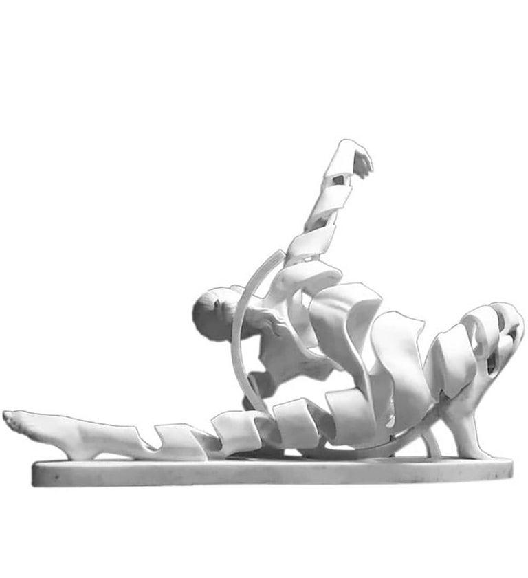 Figurative white resin big-scale sculpture