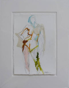 Figure #12, Petite Nude Painting on Paper