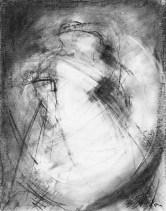 Currents III by Gail Foster 2018 Petite Framed Charcoal on Paper Figurative