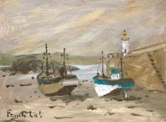 Marée Basse à Erquy by Fanch Lel, French Oil Seaside Painting from Brittany