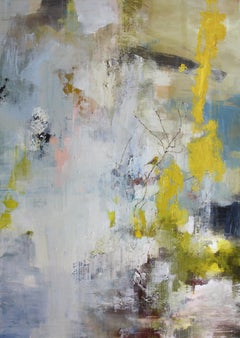 Did You Hear the Sound? (Prairie Warbler) by Justin Kellner Large Abstract Piece
