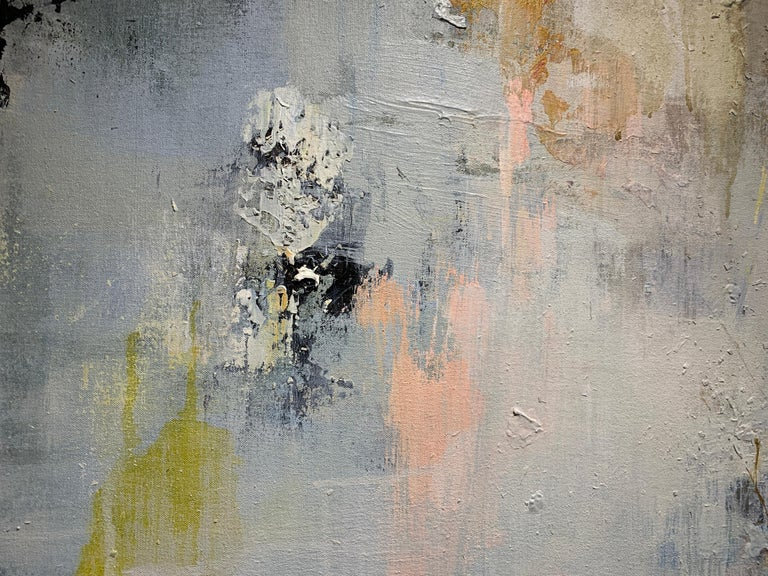 Did You Hear the Sound? (Prairie Warbler) by Justin Kellner Large Abstract Piece For Sale 4