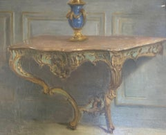 Sur la Table by French Artist André Félix Roberty Impressionist Still Life frame