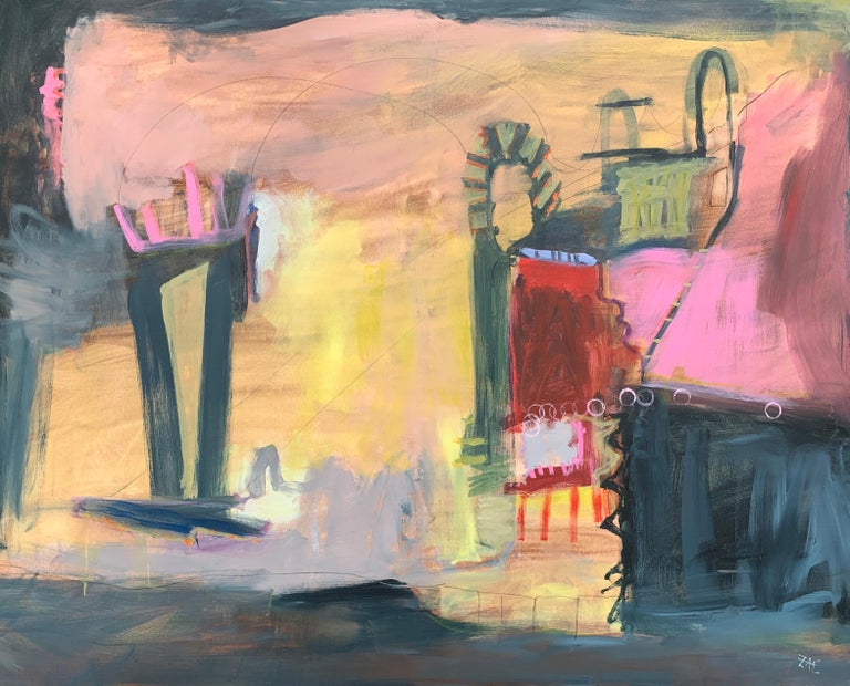 """Zae was born in Pasadena, California into a family of artists. His thoughts about his work:   """"When I paint, I am searching for freedom. A feeling. A thought. Maybe a moment in time. I strive for the deconstruction of form.  I feel that color is a"""