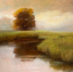 The Power Within by Laura Lloyd Fontaine, Green and Neutral Landscape Painting