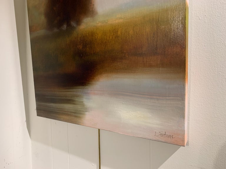 The Day Will Come by Laura Lloyd Fontaine, Green and Neutral Landscape Painting 2