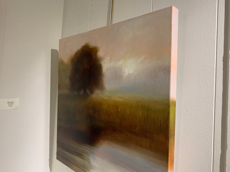 The Day Will Come by Laura Lloyd Fontaine, Green and Neutral Landscape Painting 3