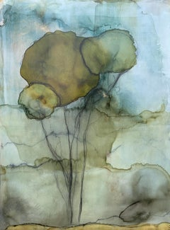 Under the Trees by Shirley Lewis Large Vertical Contemporary Painting