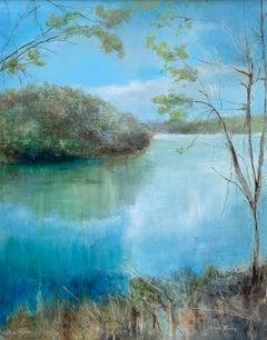Spring Break Over Norris by J Austin Jennings Large Vertical Framed Landscape