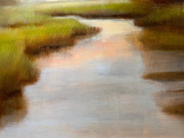 A Wonderful World by Laura Lloyd Fontaine, Green and Neutral Landscape Painting 4
