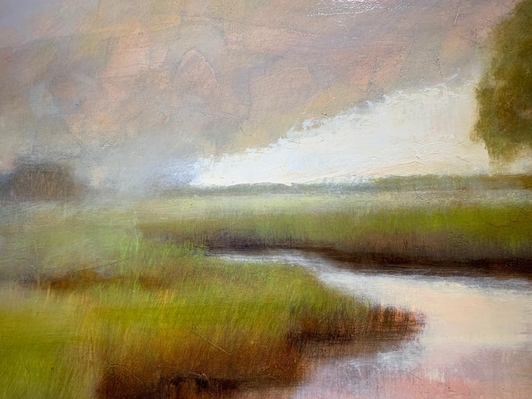 A Wonderful World by Laura Lloyd Fontaine, Green and Neutral Landscape Painting 5