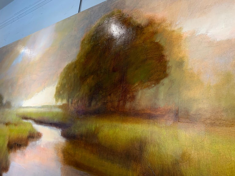 A Wonderful World by Laura Lloyd Fontaine, Green and Neutral Landscape Painting 6