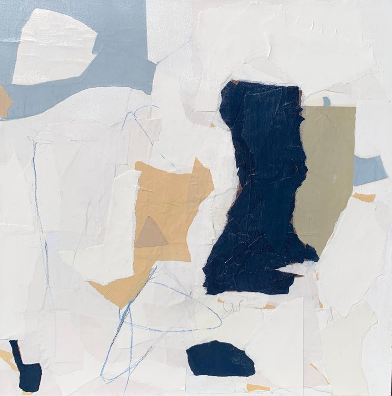 """My torn paper shapes are put together like large remains of sculpture being reassembled. My initial thoughts are on pure shape. The unusual shapes coming together in their raw simplistic form, how they interact with each other, the shapes creating"