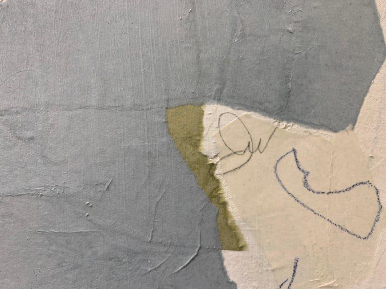 Fly Me Away by Judith Williams contemporary collage abstract on canvas For Sale 3