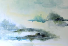 Island Blues by J Austin Jennings 2019 Large Horizontal Framed Abstract