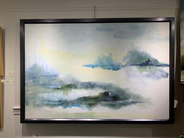 Island Blues by J Austin Jennings 2019 Large Horizontal Framed Abstract For Sale 2