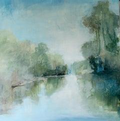 Take Me to the River by J Austin Jennings 2019 Large Square Framed Landscape
