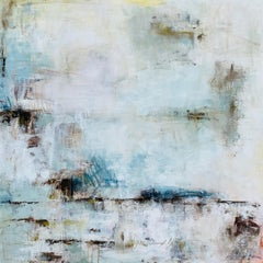 Hope on the Horizon by Lily Harrington, Square Abstract Painting on Canvas