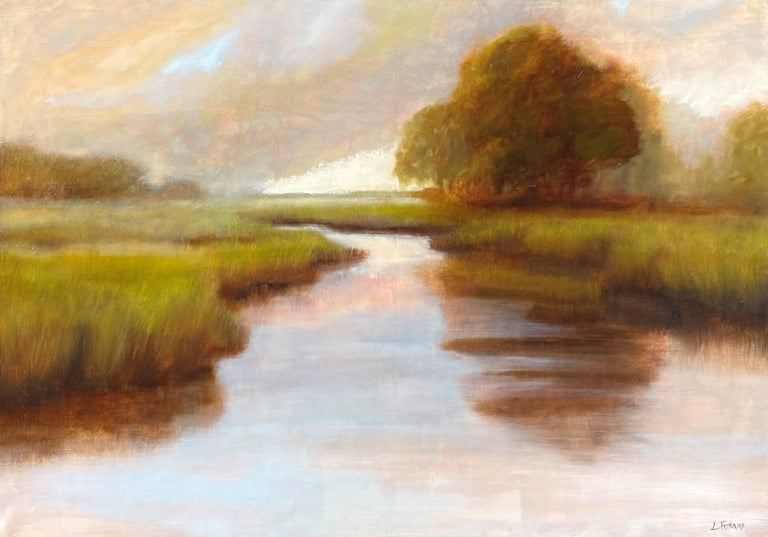 Laura Lloyd Fontaine's studio looks over the Lowcountry marsh of Charleston, S.C. When the tide is high, she paddles through the narrow creeks and marsh grass and into the Charleston Harbor. It is from this vantage point, close to the water in her