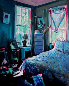 Chambers Room, European style interior bedroom painting, Oil on canvas