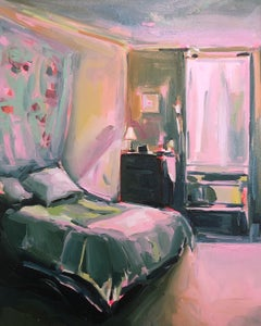Soft Light, European contemporarystyle interior bedroom painting, Oil on canvas
