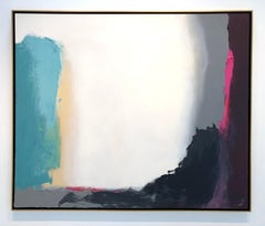 Response - contemporary bright bold abstract painting on canvas framed