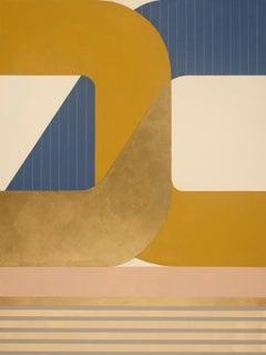 Paradigm Shift, striking modern geometric abstract painting, bright palette