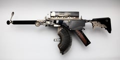 Remington-Model 5 -black, Vintage Typewriter Machine Gun, wall sculpture - Pop