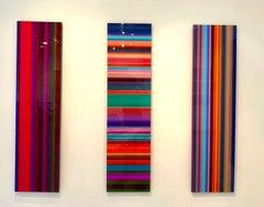 Colorful Words #1, #2 + #3 - Triptych - Glitch Art - Printed on Acrylic