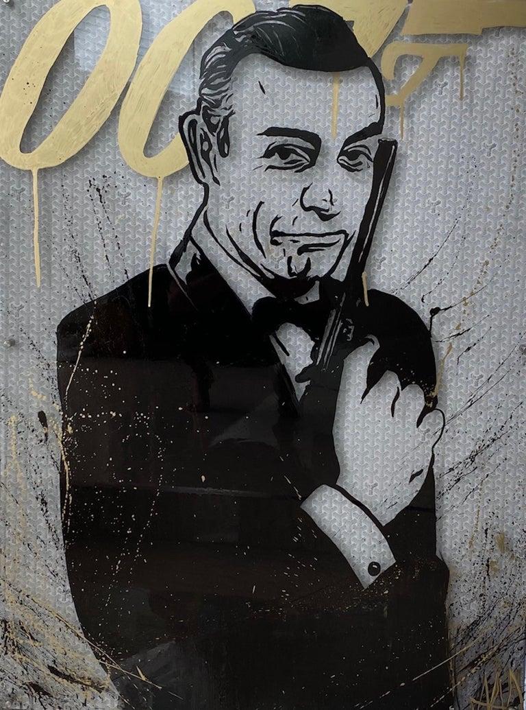 Aaron Gigi Portrait Painting - James Bond x Goyard