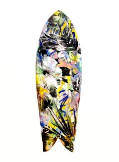 Surfboard - Tropical Floral Style