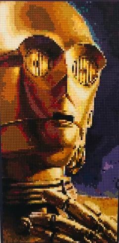 Stargazing - Lego Art - Original - C-3PO From Star Wars movie.