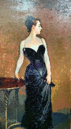 Madame X (original lego art with frame)