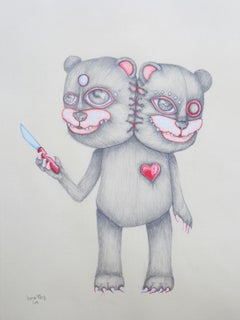 "Draw of Jessica Pliez ""L'ours aux perles""."
