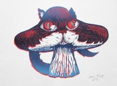 "Ink on paper by Jessica Pliez ""Chapignon 2019""."