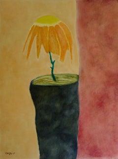 "Oil on canvas of Vincent Greby "" Sad Flower"""