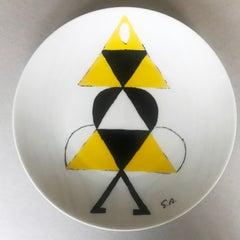 """Porcelain collection plate """" La danseuse jaune""""."""