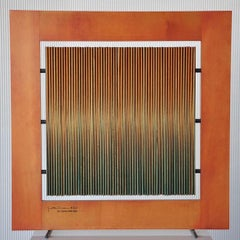 Gaetano Pesce wood and metal sculpture frame 1968