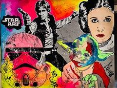 "Clem$ ""Star Art oil on canvas"" 2020"