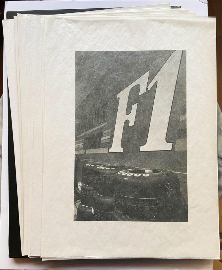 Renault Formula 1 Grand Prix Portfolio - Jeanloup Sieff Estoril Editions 1992 10 black and white photographs  Excellent condition  57,5x42 690€
