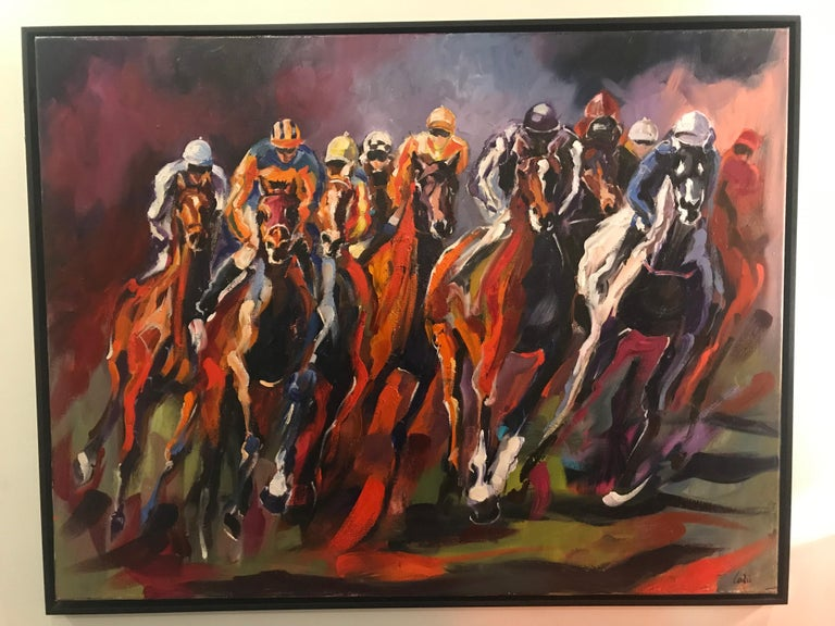 A day at the Races - Painting by Sonia Lalic