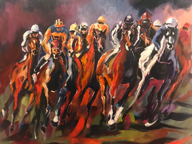 Sonia Lalic  Figurative Painting -  A day at the Races