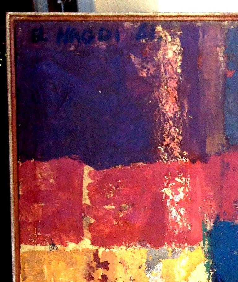 Maternité brune. 1961 . oil on canvas . - Black Figurative Painting by Omar El-Nagdi